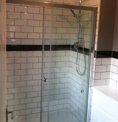 New shower installation