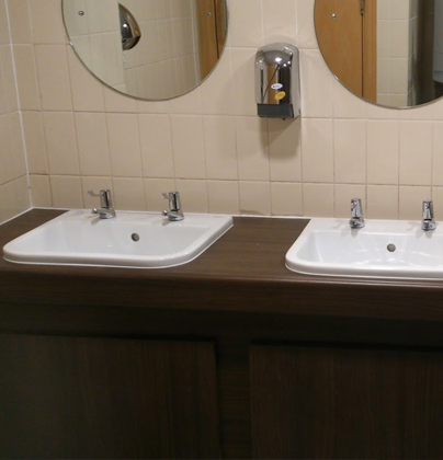 Communal restroom facilities